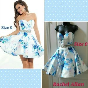 Dresses & Skirts - Rachel Allan floral strapless cocktail